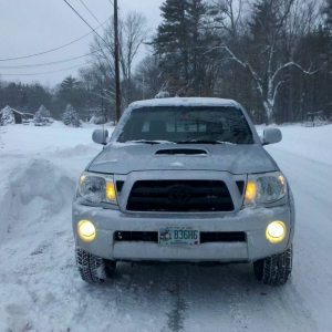 My Tacoma in the Snow in January