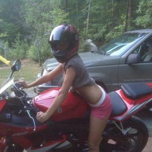 the wife on my bike