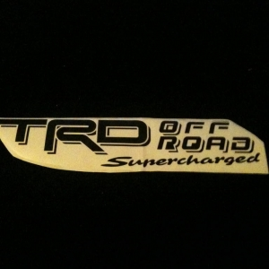 TRD SUPERCHARGED DECAL