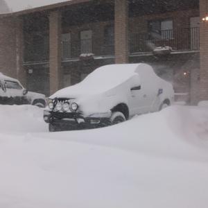 Tacoma in snow