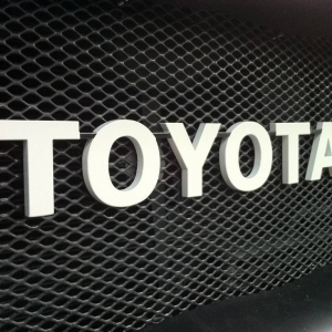 Toyota letters Metal Miller, AzogSS