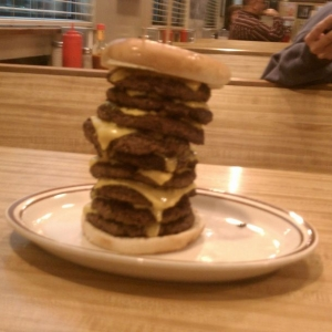 Burger challenge that kicked my ass........