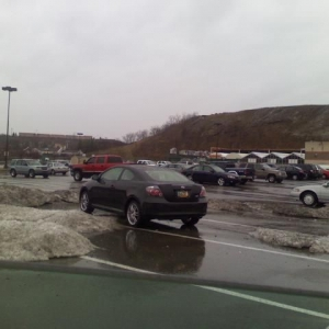 Now thats a parking spot. Surrounded by snow piles.