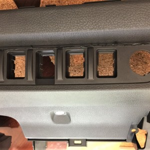 Removal of center console to install new switches etc.