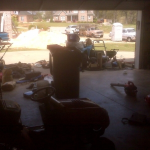 Garage was a complete mess so I cleaned it today....before