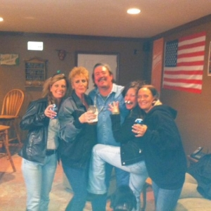 Celebrating my birthday in the man cave last weekend