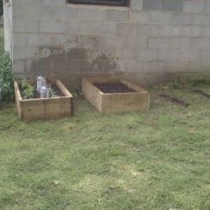 Got my lil garden underway....potato,tomatos,squash,cucumber,and sweet corn