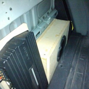 installed sub and amp