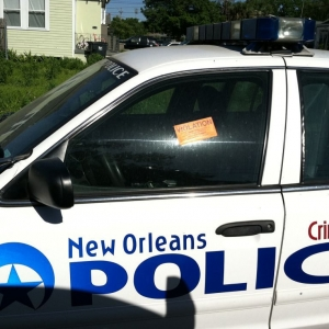 A police car with a parking violation?