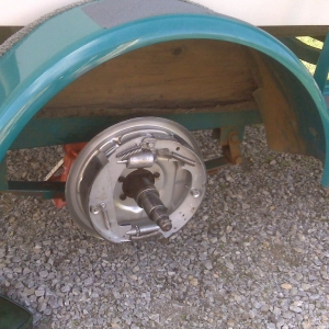 All new brakes on the boat trailer!