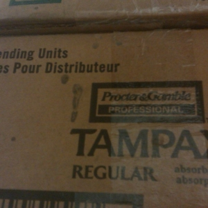That's A LOT of tampax Omg
