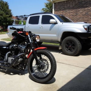 2008 Nightster and 2008 Tacoma