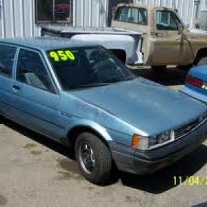 1986 Chevy Nova - Very Similar to mine