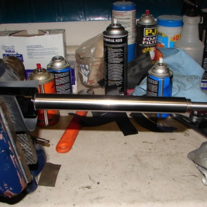 Shaft cleaned up.