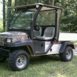 My hunting/yard work cart at the house.......