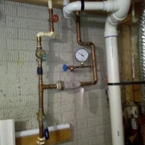 plumbing set up