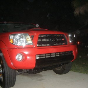 Blacked out the grill emblem and center lower bumper the next day.