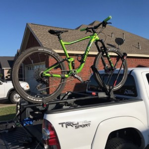 Homemade crossbars with Yakima front loader