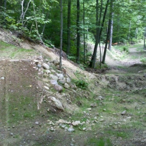 A little taste of the moutain bike jumps at sunday river.... first time her