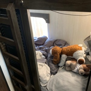 One of the two bunks