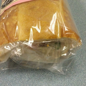 Looked what I found wrapped in my sandwich