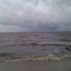 The Chesapeake bay is angry. Time to batten down the hatches for Irene.