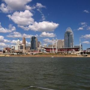 My view yesterday of Cincinnati.