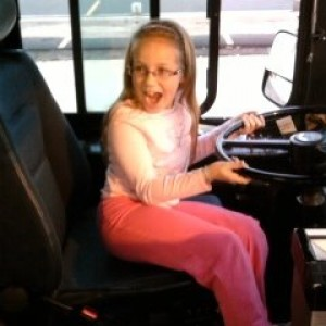 Madeline.  A future stunt bus driver!