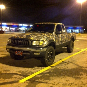 """Fellow TW user, """"Remington"""" finished up his camo-wrap/bedliner pr"""