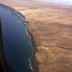 Cliffs of lanai. Beautiful day to be flying.