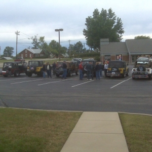 Heep meet in the parking lot at work... Haha