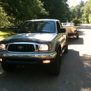 My tacoma with my old boat