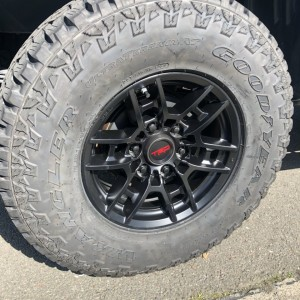 Wheel and tire closeup