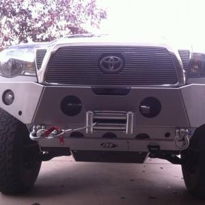 All Pro plate bumper silver
