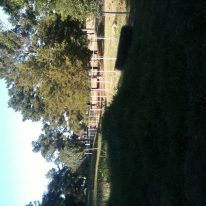 Work, 1800 ft cyclone fence. This is only the first 600ft