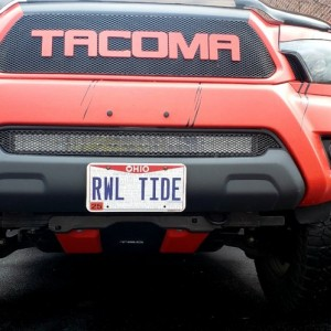 License plate relocate mod by @ACEkraut ....great work brother...lets the Cali Redi LED light bar really shine....