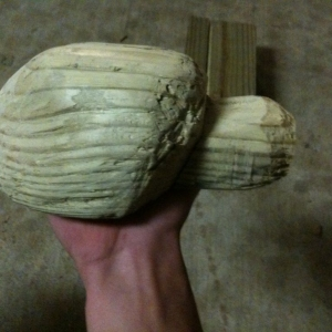What I've worked on for 5 hours the past two days. Carved it out of a