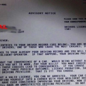 Not mine...A friend just received this letter today from the DMV. I have ne