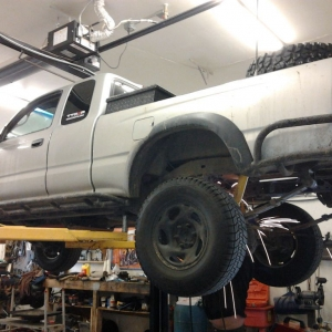 At the shop getting the magnaflow relocated