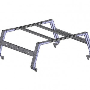 Topper Max Bed Rack Assembly, 58 Inch Long, 24 Inch High (62.5 Inch Inside Width)