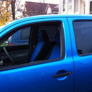Coverking seat cover, thru window