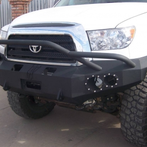 side view tundra front steel bumper