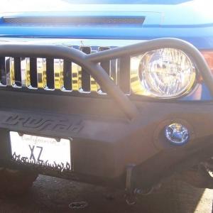 Fj steel front bumper