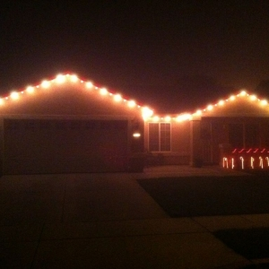 Finally done with the lights. Had a late start!