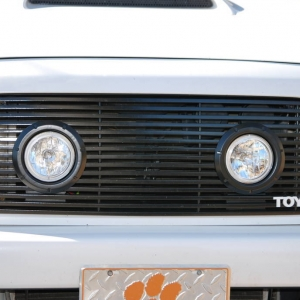 """Blacked out Grille w/ 4"""" driving lights"""