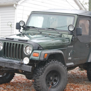 my other toy 97 wrangler, the trout scout