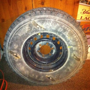 98 Tacoma 15inch Spare tire and steel rim