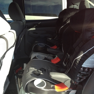 Two Car Seats in Double Cab