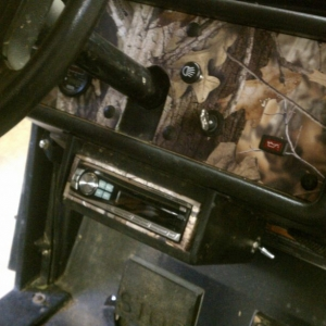 Me and Jeff camo trimmed my golf cart. Looked pretty badass,and we put a ne