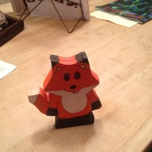 Fox Recipe Holder
